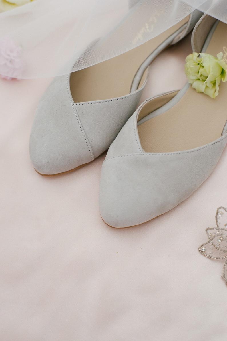 Wedding Shoes Gray Wedding Shoes Bridal Ballet Flats Low Etsy Bridal Ballet Flats Grey Wedding Shoes Wedding Shoes Flats
