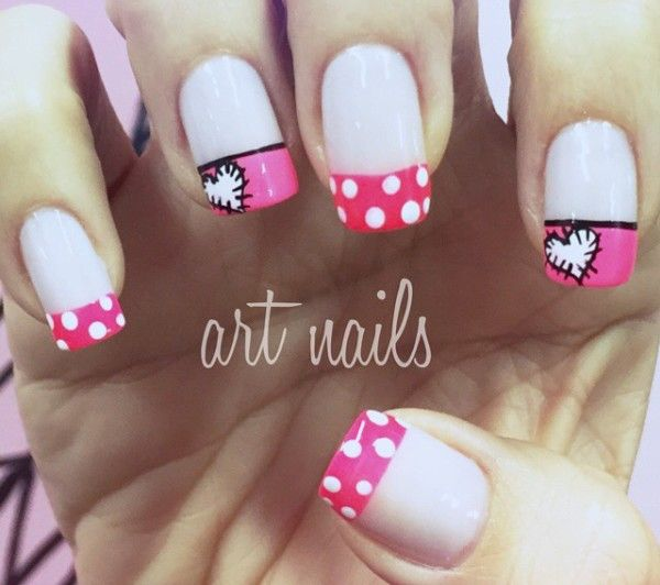 Uñas Decoradas Puntos Y Corazon Uñas Pinterest Nail Designs