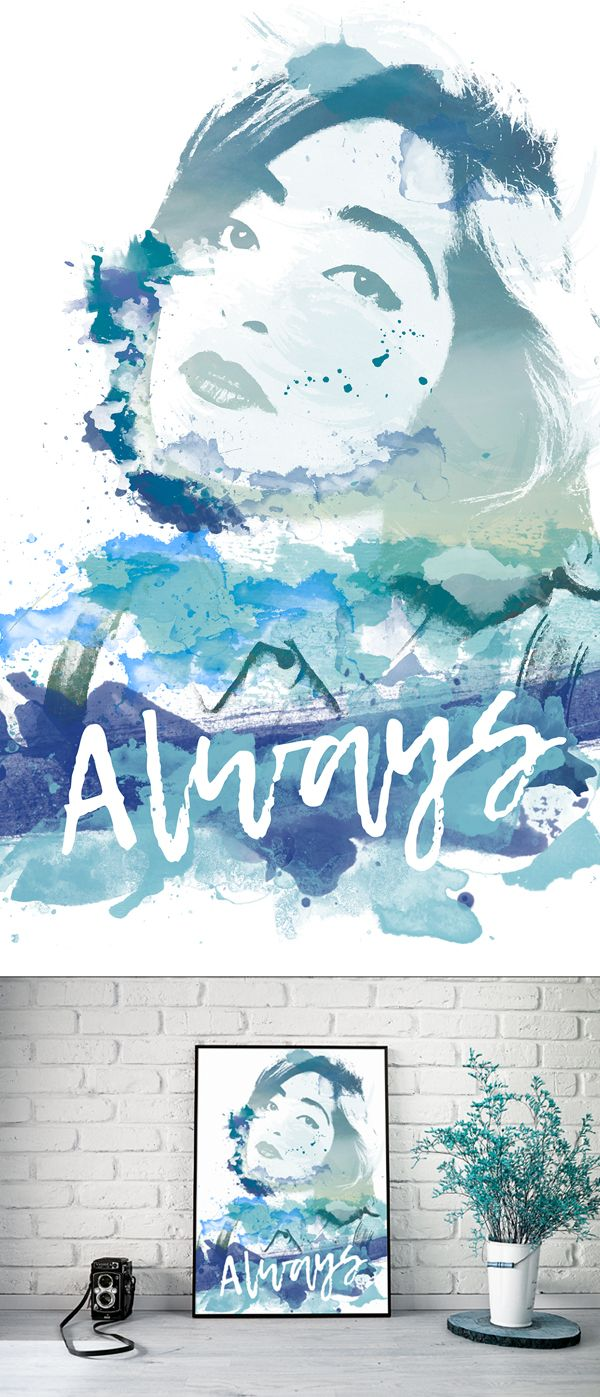 Learn How To Apply Watercolor Effect Photography In Photoshop Tutorials