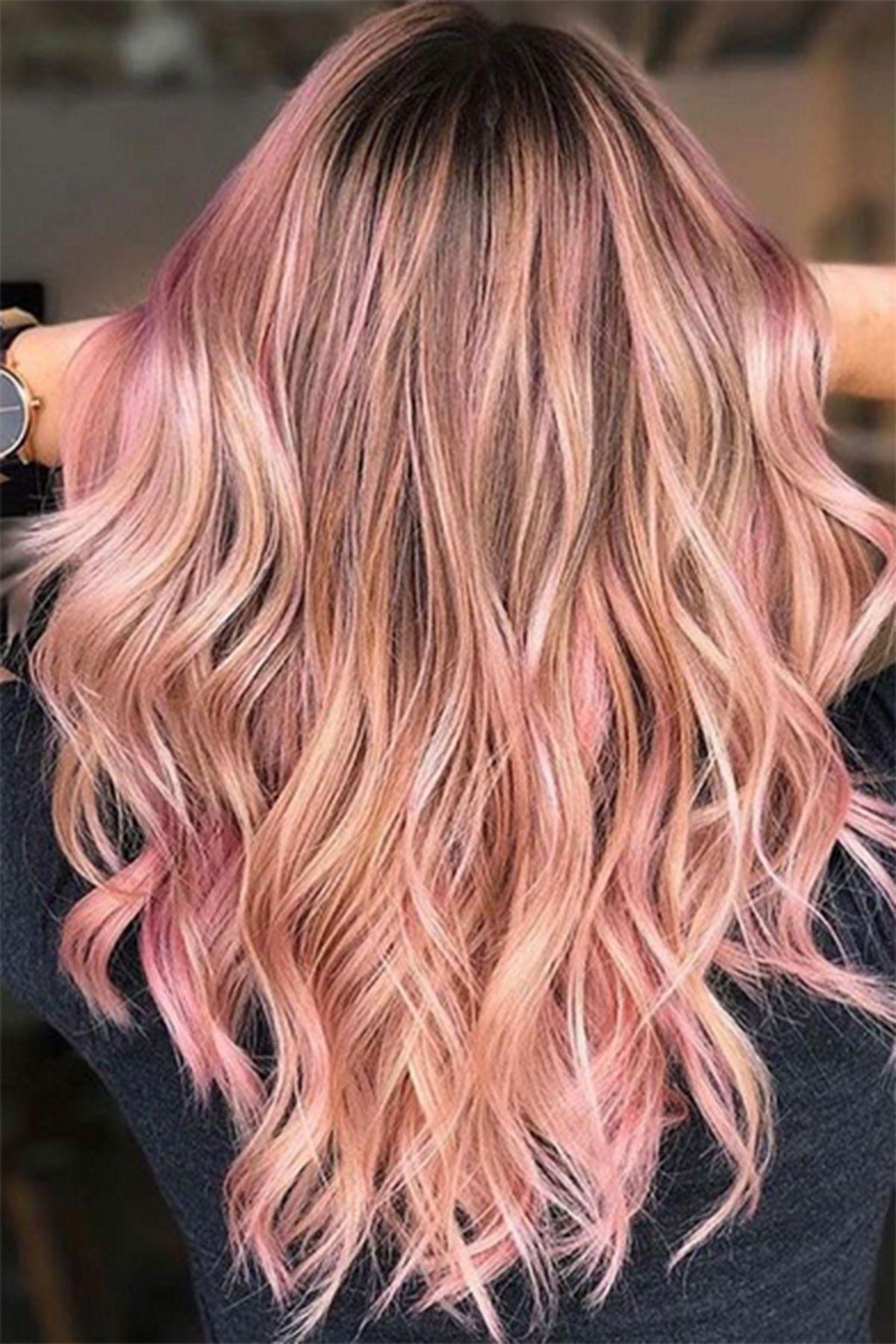 Trend Haarfarbe Soft Rosé Gold Hair In 2019 Hair Color