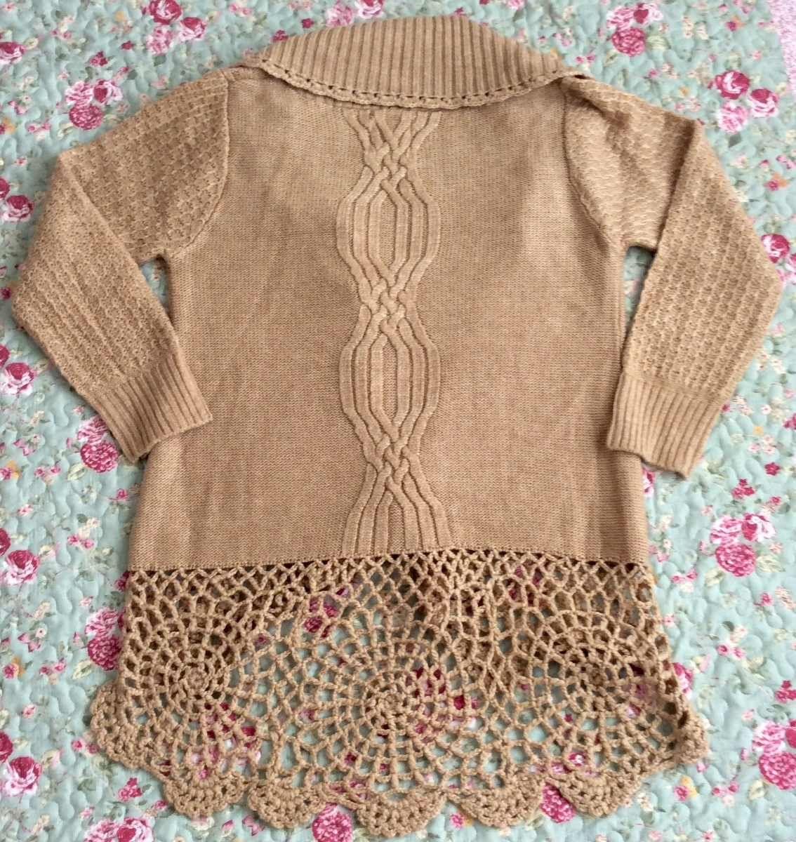 Saco de WANAMA  combinado con crochet.