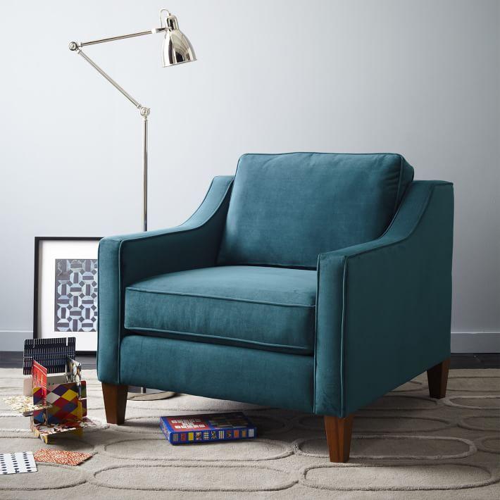 Best West Elm Paidge Chair Down Blend Heathered Crosshatch 400 x 300