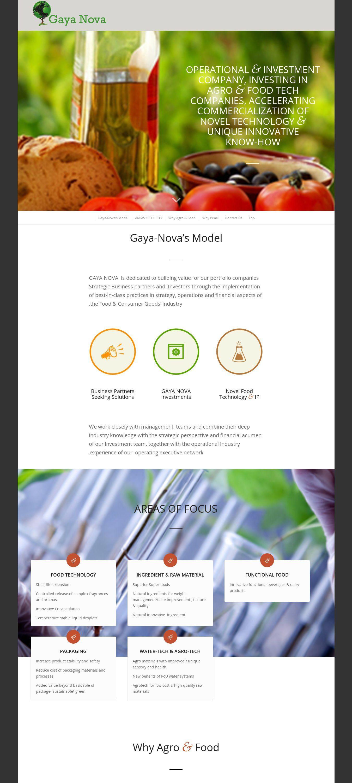 WordPress site gaya-nova.com uses the Wordpress template Enfold ...