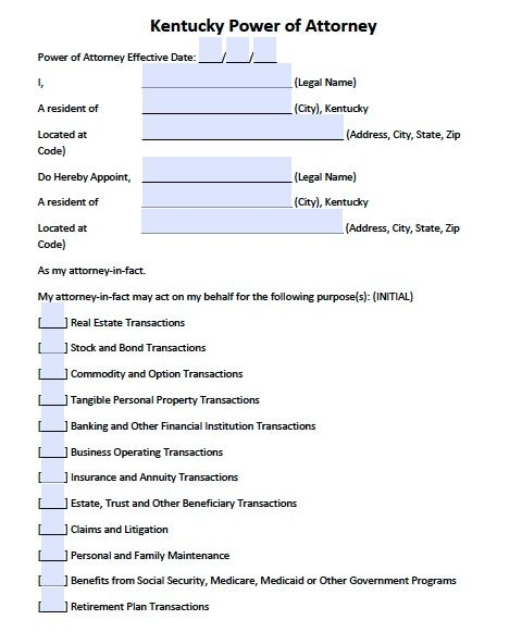 Durable Power Of Attorney Kentucky Form Adobe Pdf Power Of Attorney Power Of Attorney Form Attorneys