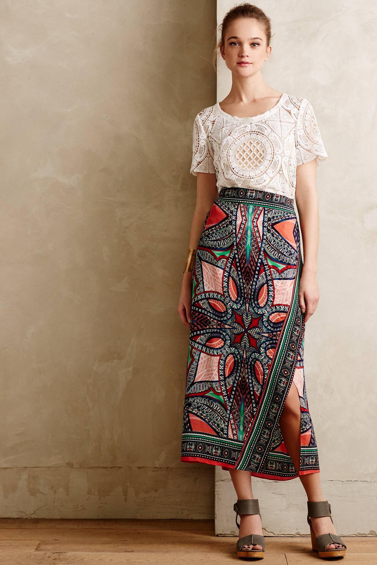 Geoda Wrap Skirt - anthropologie.com | Looks I Love <3 | Pinterest ...