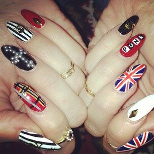 """For those of us who think writing """"punk"""" on nails actually makes you a punk rocker. 