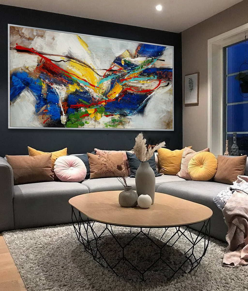 Pin By Vanigor On Long Slim Abstract Paintings Large Canvas Wall Art Colorful Canvas Art Abstract Wall Art