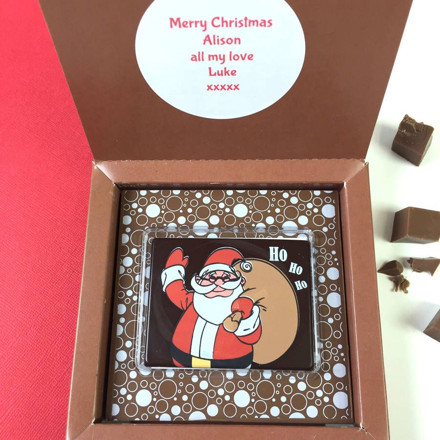 3D Animated Christmas Magic Santa Chocolate   Chocolate gifts ...