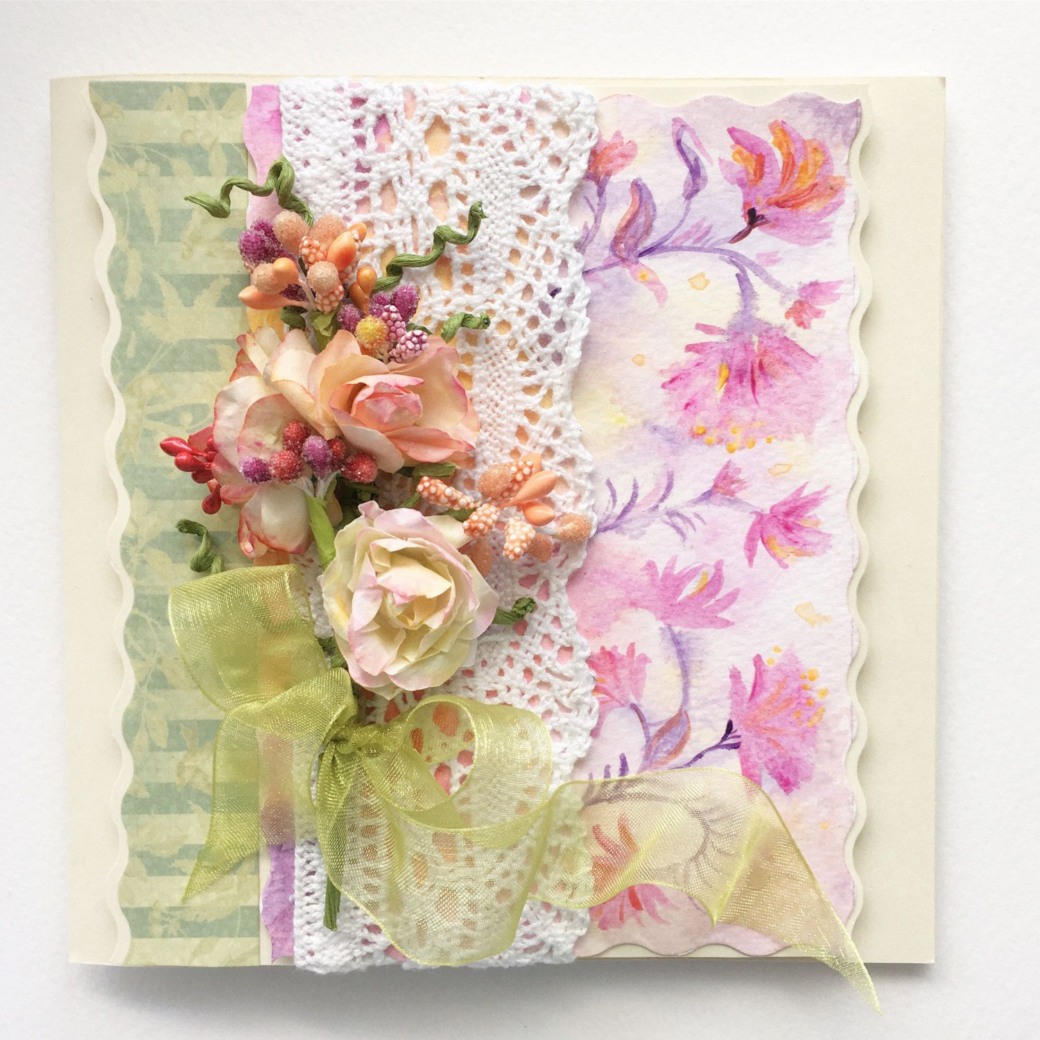 Congratulations Wedding Card Greeting Card Love Floral Greeting