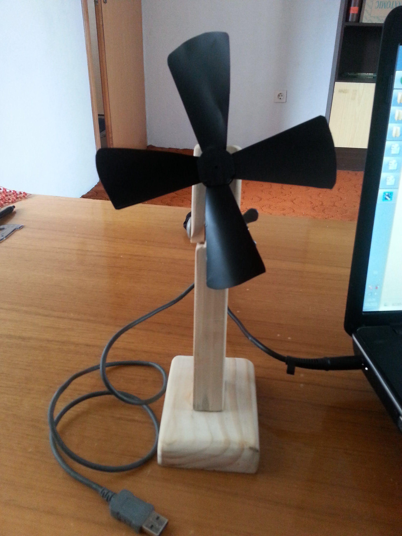 Homemade Usb Powered Desk Fan Desk Fan Usb Fan