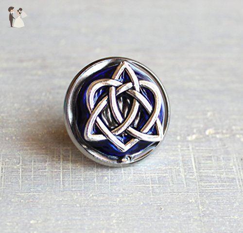 Irish wedding groomsmen gift mens jewelry wedding jewelry Scottish wedding sky blue celtic knot tie tac anniversary gift