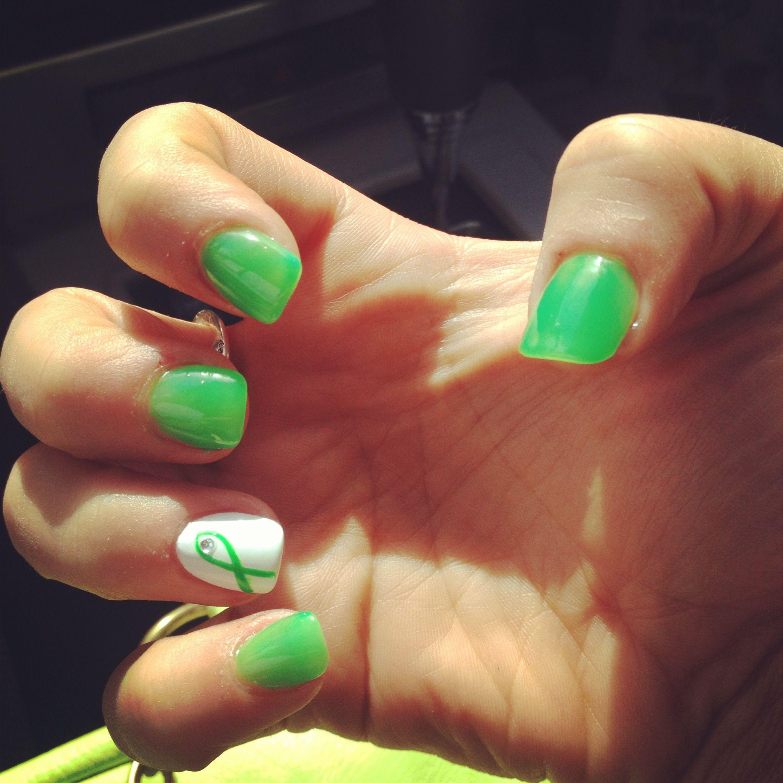 Non-Hodgkin\'s Lymphoma awareness nails. Cancer nails. | Kristen\'s ...
