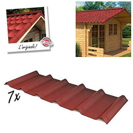 Onduvilla 7x Tegole impermeabili per copertura tetti gazebo casa garage Ondulina