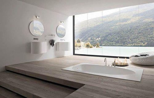 Klasse Idee Im Boden Eingelassene Badewanne Statt Fenster Ein