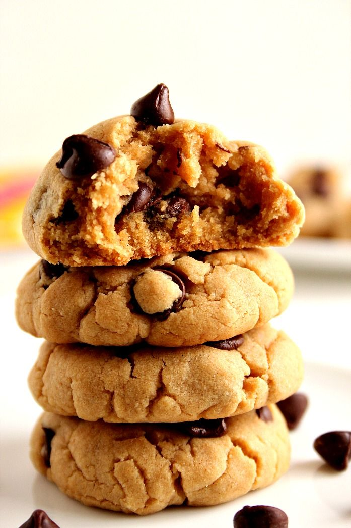 peanut butter chocolate chip cookies recept