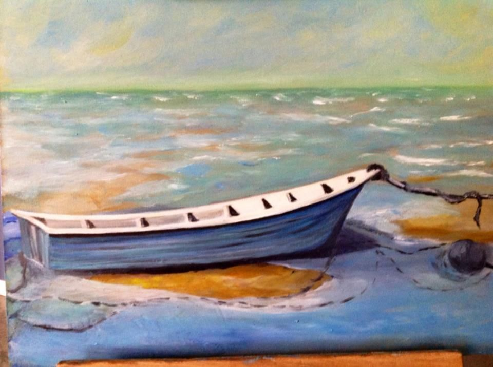 Low Tide on Cape Cod, oil on canvas board.