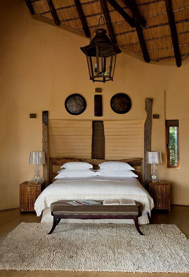 Bedroom interior design ideas with wood accent