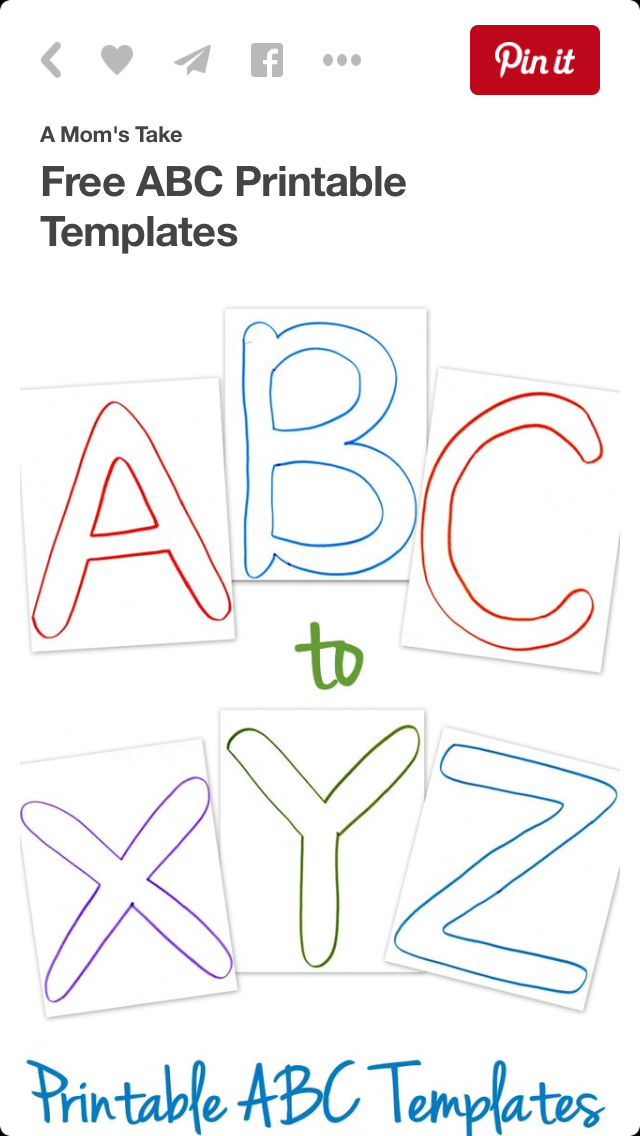 Pin By Stacie Yaunsem On Alphabet Activities Abc Printables Printable Letter Templates Free Printable Letters