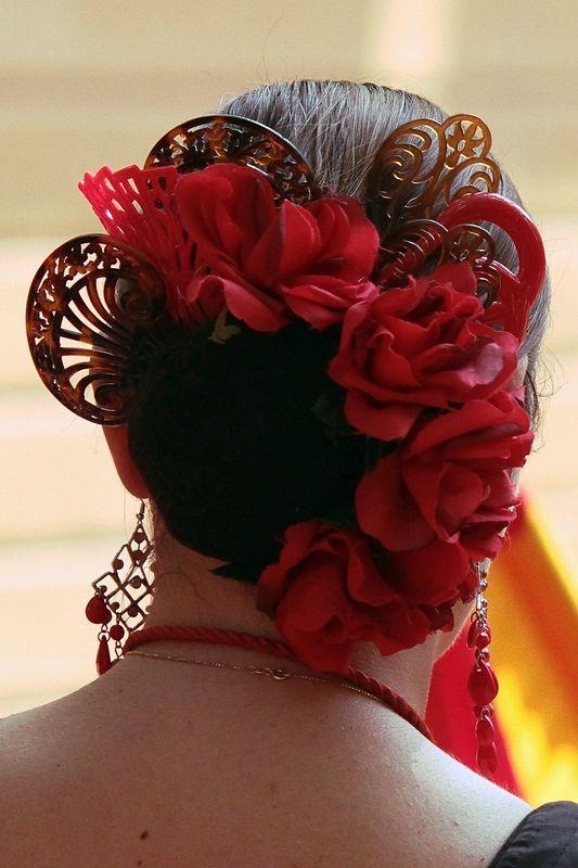 Hermoso peinados flamencos Imagen de ideas de color de pelo - flamenco | Peinado flamenca, Peinados españoles, Trajes de ...