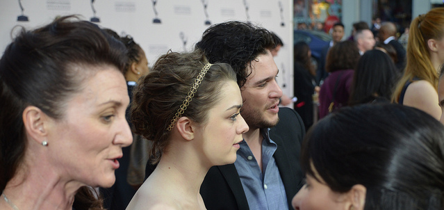 At Game of Thrones Red Carpet  Fans of #GameofThrones Here's the #RedCarpetReport Coverage http://ht.ly/jgoYj from #PrimetimeEmmys Event #Interviews #Photos #PanelReplay #Videos