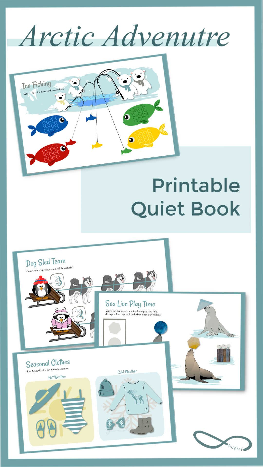 Arctic Quiet Book Educational Busy Book Toddler Learning