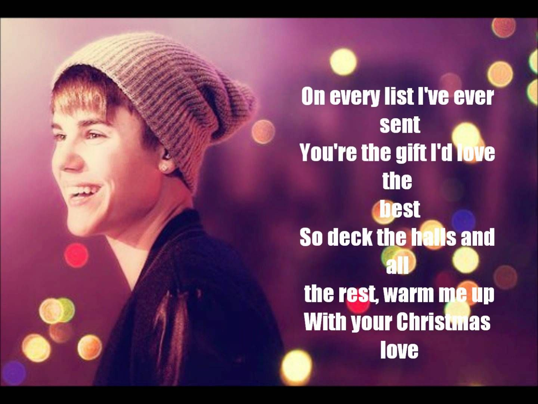 Justin Bieber Christmas Love Lyrics Justin Bieber Christmas Love Justin Bieber Christmas Love