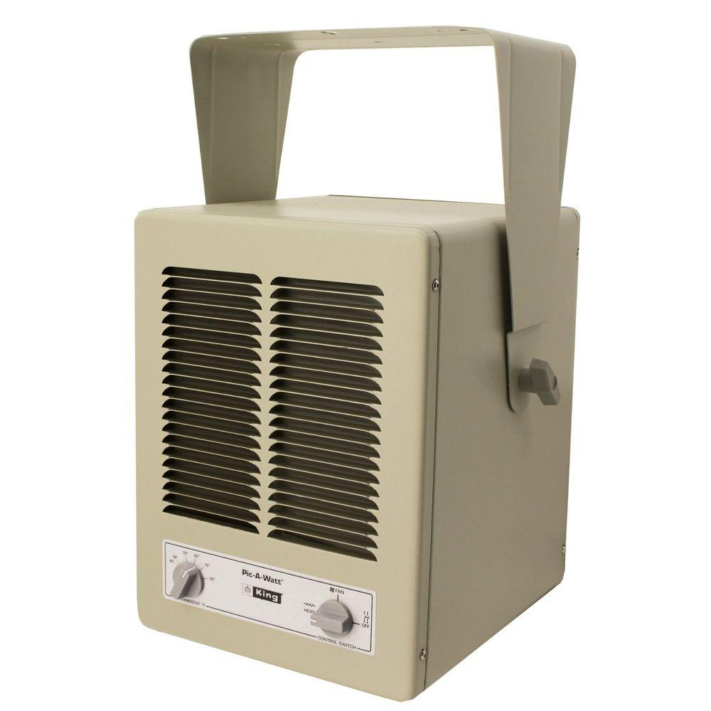 King Electric 5700 Watt 240 Volt Single Phase Paw Garage Portable Heater With Built In Thermostat Kbp2406 The Home Depot In 2020 Garage Heater Portable Heater Shop Heater