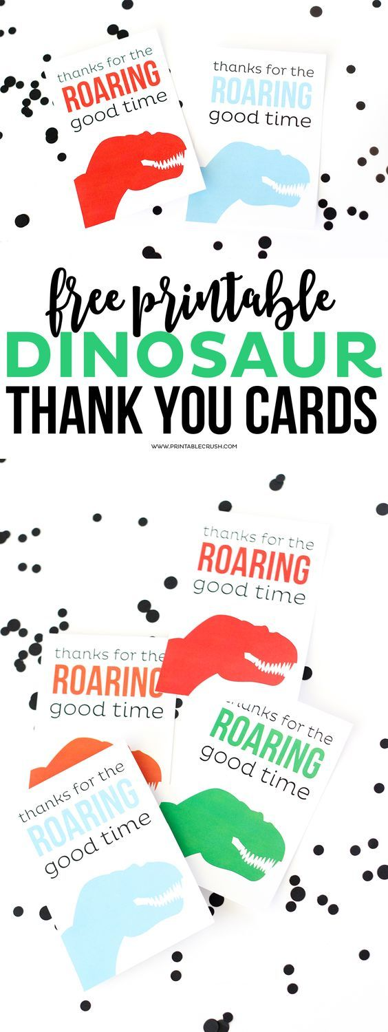 Printable Dinosaur Thank You Cards Free Dinosaur Party Favors Dinosaur Birthday Party Dinosaur Theme Party
