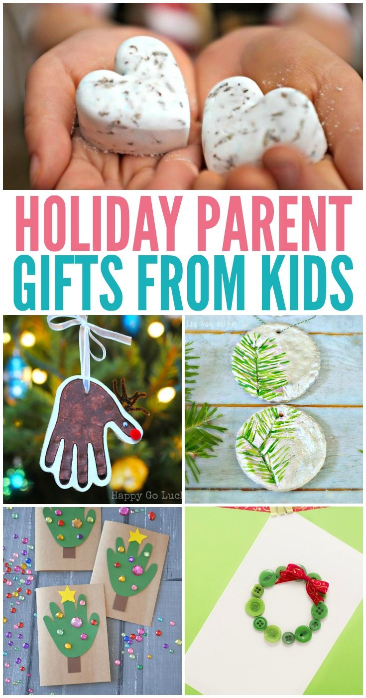 Holiday Parent Gifts from Kids Preschool gifts, Diy