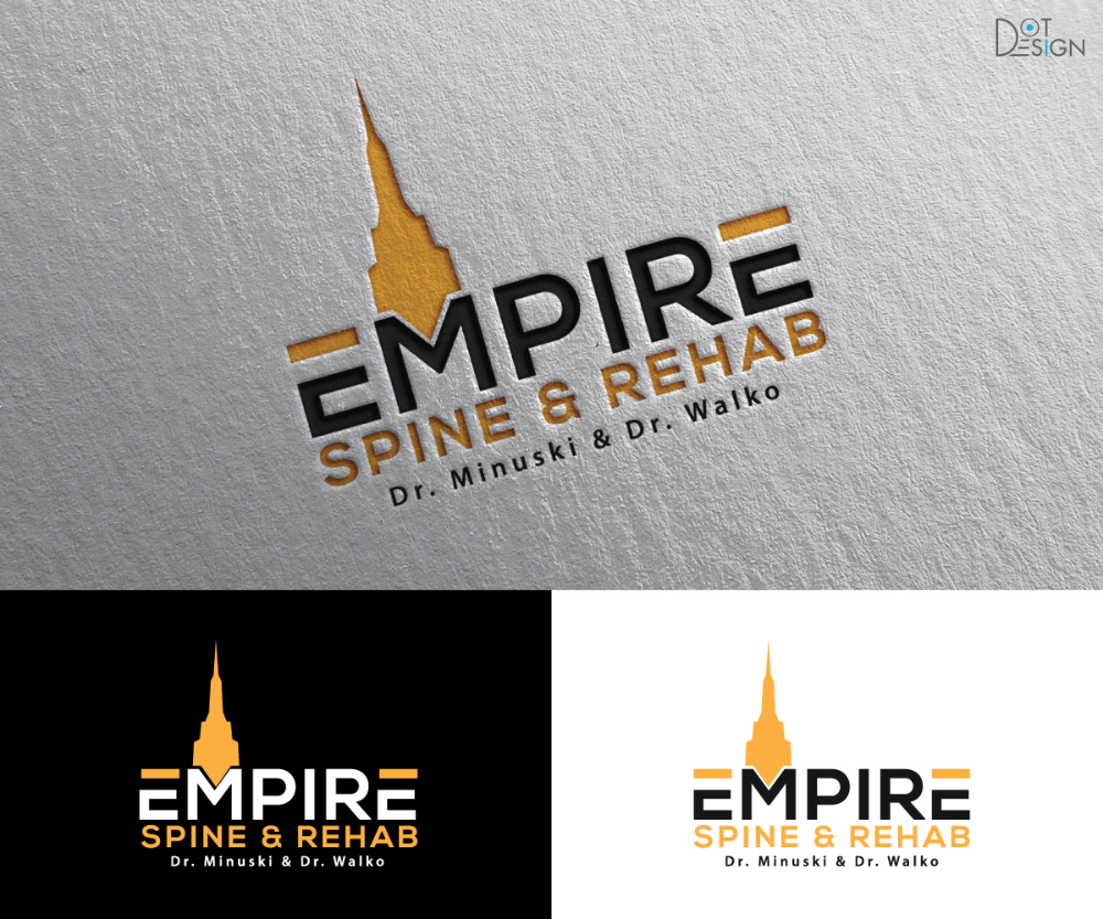 Upmarket Elegant Chiropractic Logo Design For Empire Spine Rehab If You Can Incorporate Our Names Dr Minuski Chiropractic Logo Logo Design Dots Design