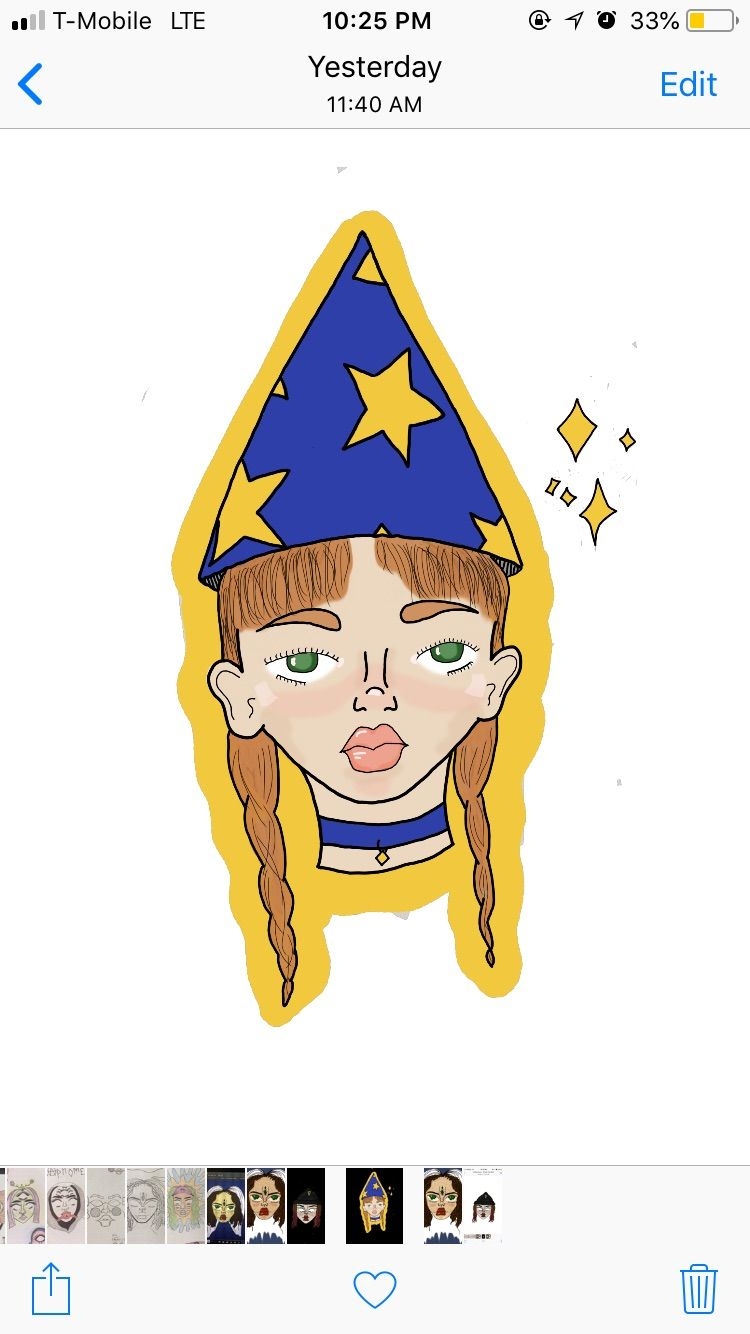 Digital art that ive now made into stickers selling on