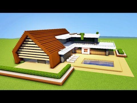 Minecraft Tuto Maison Moderne Youtube Game Stuff