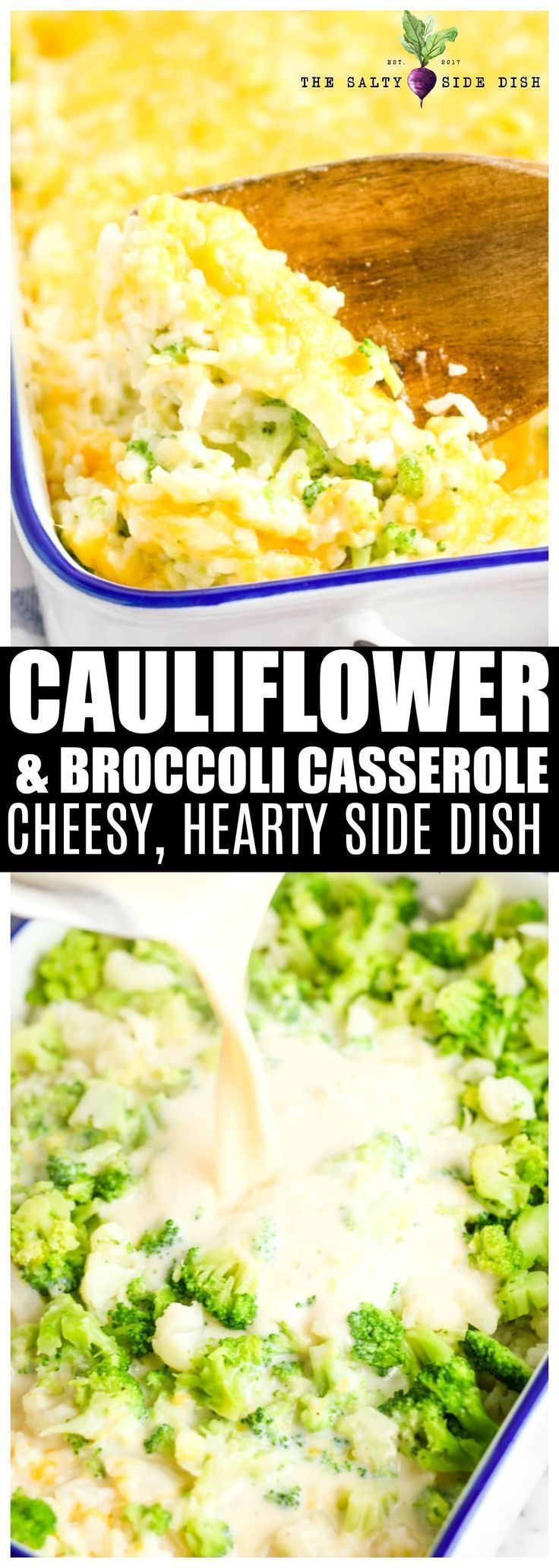 Cauliflower Casserole, or rather a Cheesy Broccoli Cauliflower Rice Casserole, is the perfect hearty side dish #sidedish #casserole #broccoli #cauliflower       Homeland and Climate:  Rice, which is known as the homeland of Southeast China, or rice, is cultivated in every continent except Antarctica. Paddy, which is the natural plant of tropical regions, grows in warm regions with plenty of rain. In our country, which i... #Broccoli #Casserole #Cauliflower #cheese #Dish #loaded #Salty #Side
