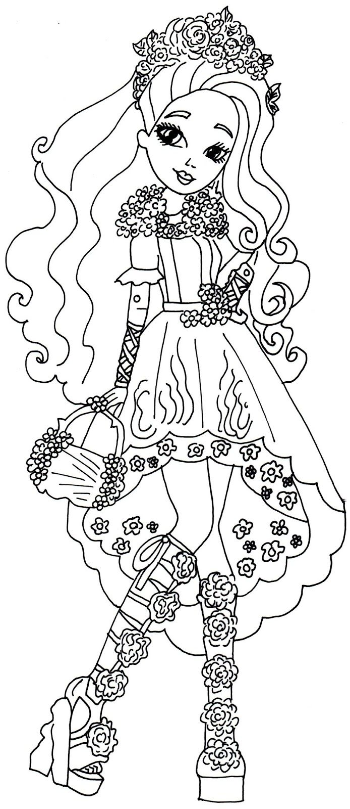 Spring Unsprung Cedar Wood Ever After High Coloring Page