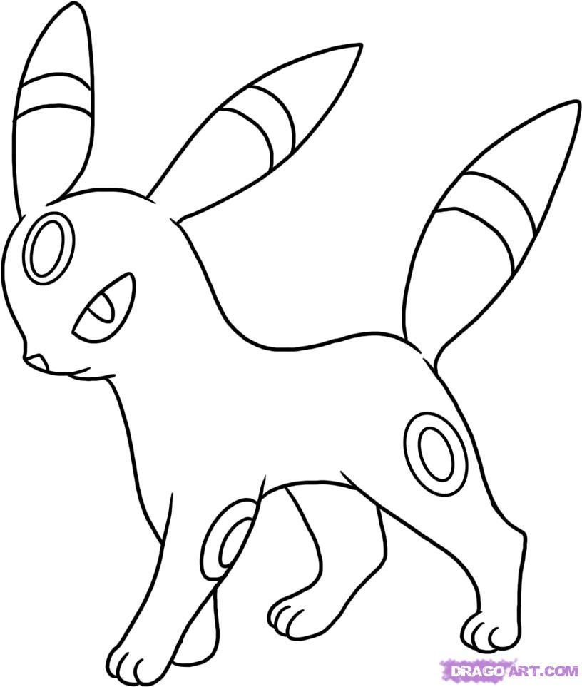 Download Or Print This Amazing Coloring Page How To Draw Umbreon