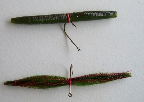 Wacky wobbler fly tying contest if bass worms work for Bass fishing worms