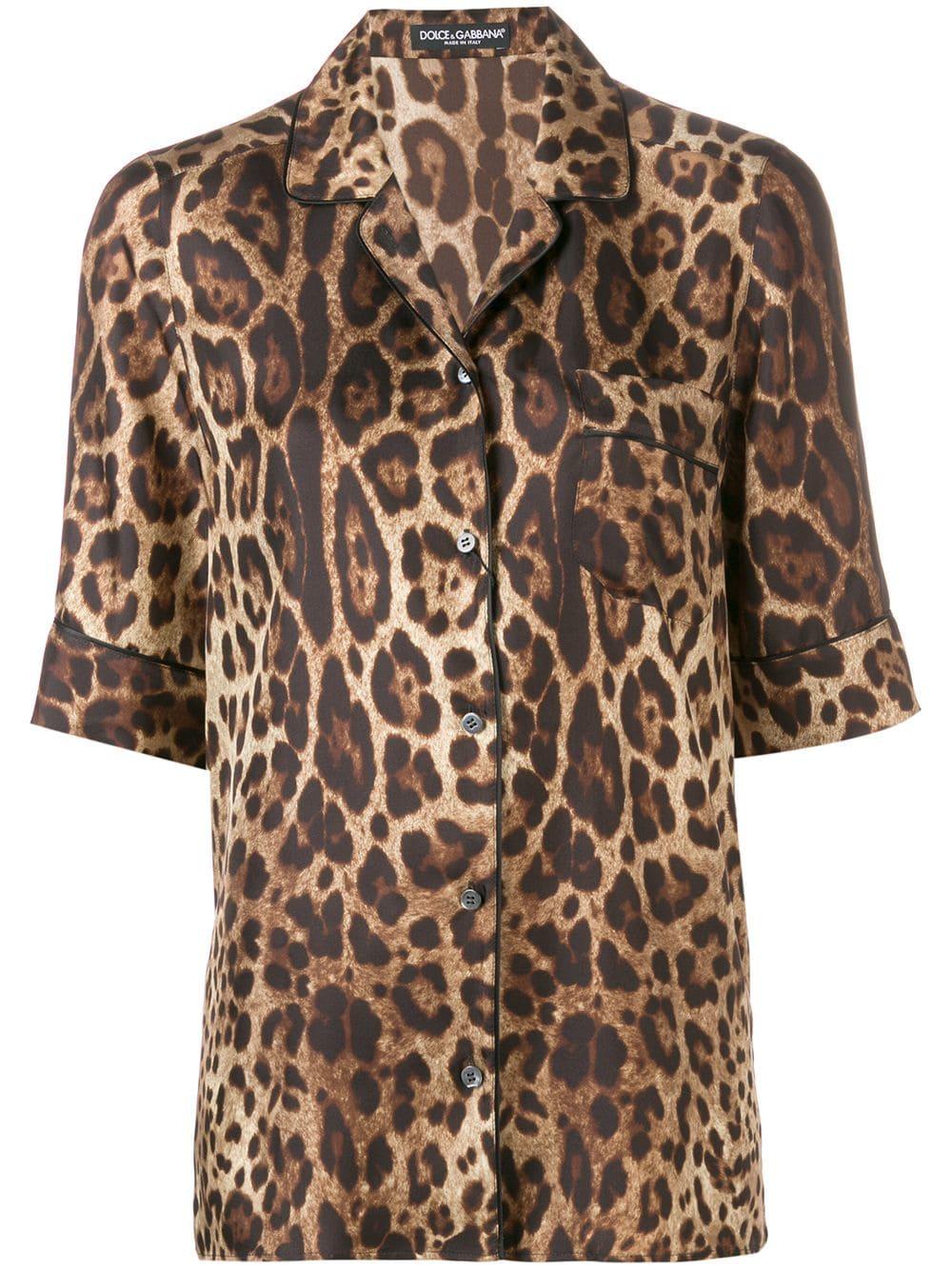 660b890e29fe DOLCE & GABBANA DOLCE & GABBANA LEOPARD PRINT SHIRT - BROWN. #dolcegabbana  #cloth