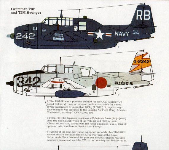 Grumman Avenger vintage airplane WWII Aircraft illustration aviation print airplane decor bedroom decor plane