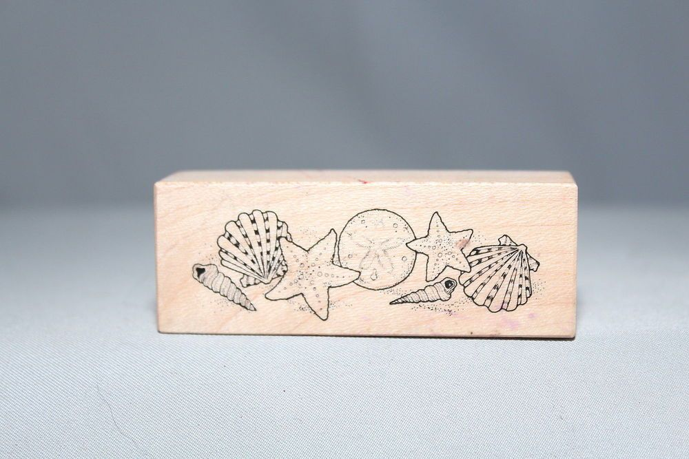 Sea Shells Star Fish 1993 USA C-604 Vintage PSX Wood & Foam Backed Rubber Stamp  -   http://HomeTownVintage.com/  -Clearance Up To 50% OFF!! All Our Stamps!! Lots of   Vintage Scrap Booking Stamps From PSX (Personal Stamp Exchange), Hero Arts,   Fearless Designs, Stampin Up!, DOTS and many more  Also Find us on:  http://autopartspuller.com @HomeTownVintage @autopartspuller @preppershowto http://facebook.com/hometownvtg http://facebook.com/AutoPartsPuller