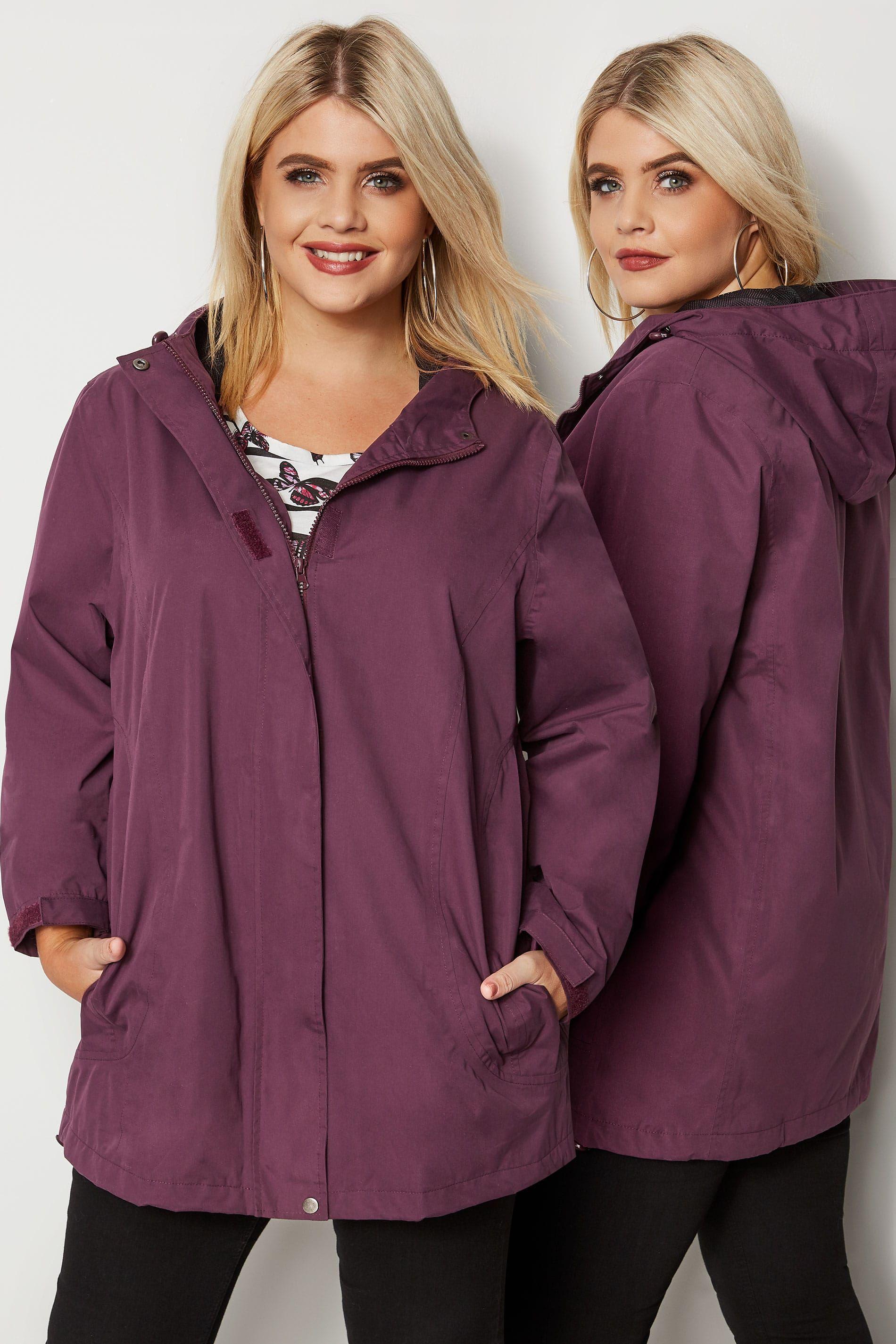 Yours Clothing Womens Ladies Plus Size Coat Jacket Zip Hooded UK 16-36