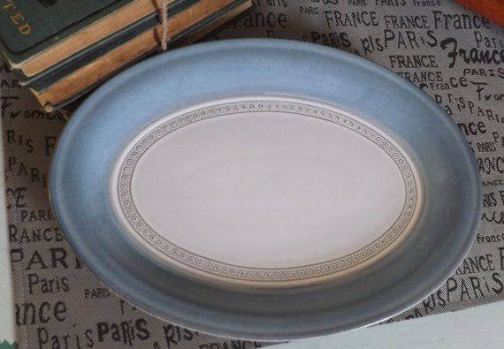 Vintage c.1980s Denby Castile oval stoneware by BuyfromGroovy : denby castile dinnerware - pezcame.com