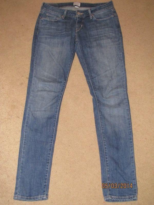 LEVI'S Slight Curve SKINNY Jeans Stretch Prefade HOT Size 2 26 #Levis #SlimSkinny
