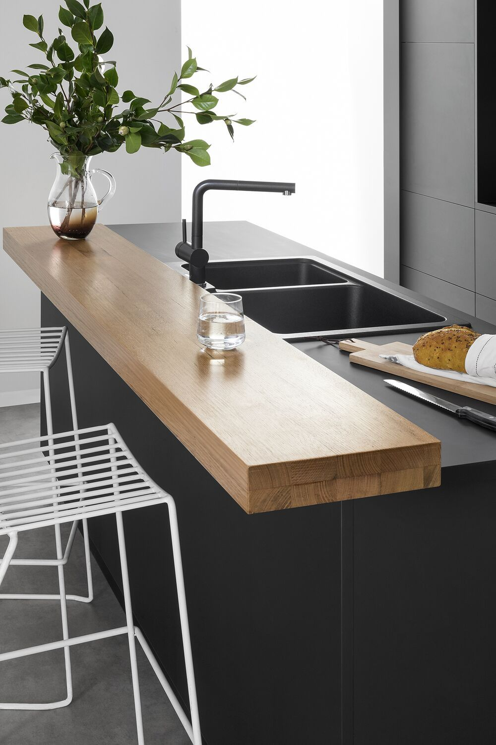 can you hack it how cool is this timber benchtop extension in 2020 kitchen inspirations on kaboodle kitchen design id=42126