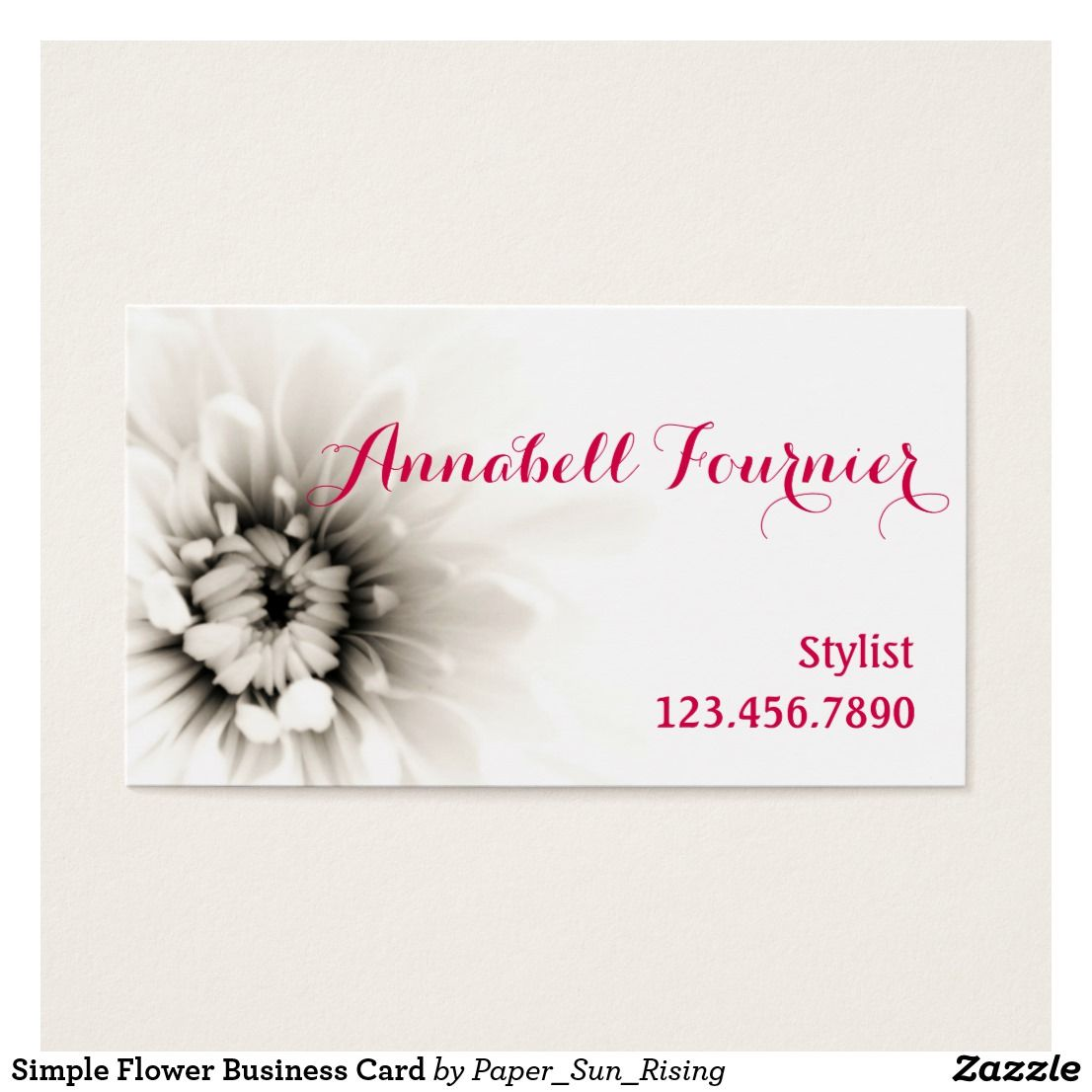 Simple Flower Business Card | Pinterest