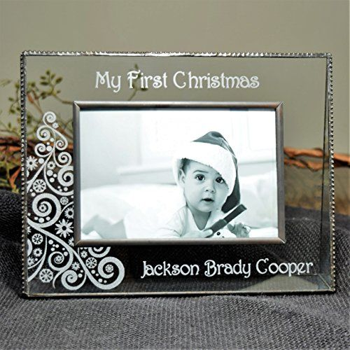 J Devlin Pic 31946H EP559 Babys First Christmas Personalized 4x6 ...