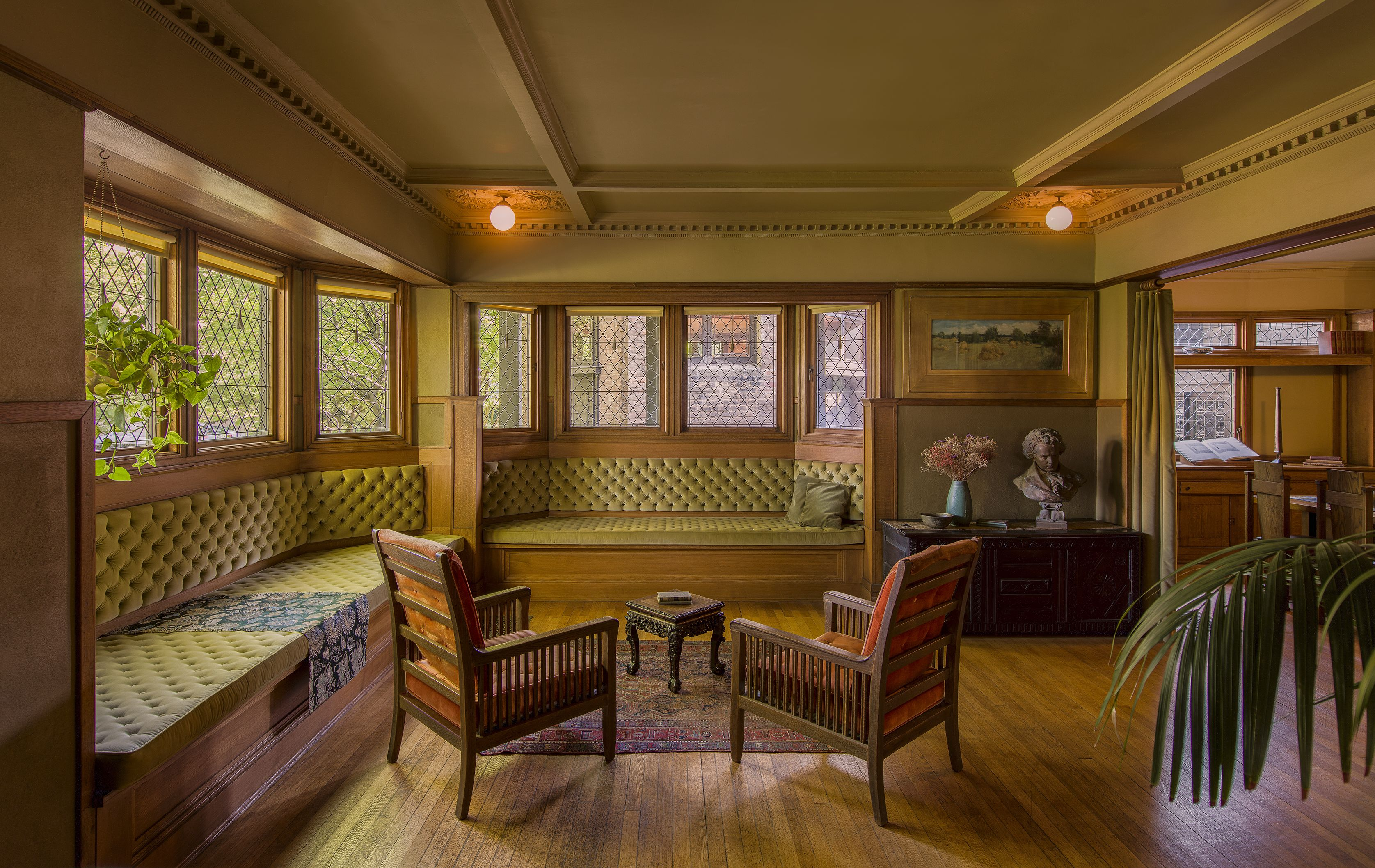 How Frank Lloyd Wright S Early Furniture Designs Reinforced His