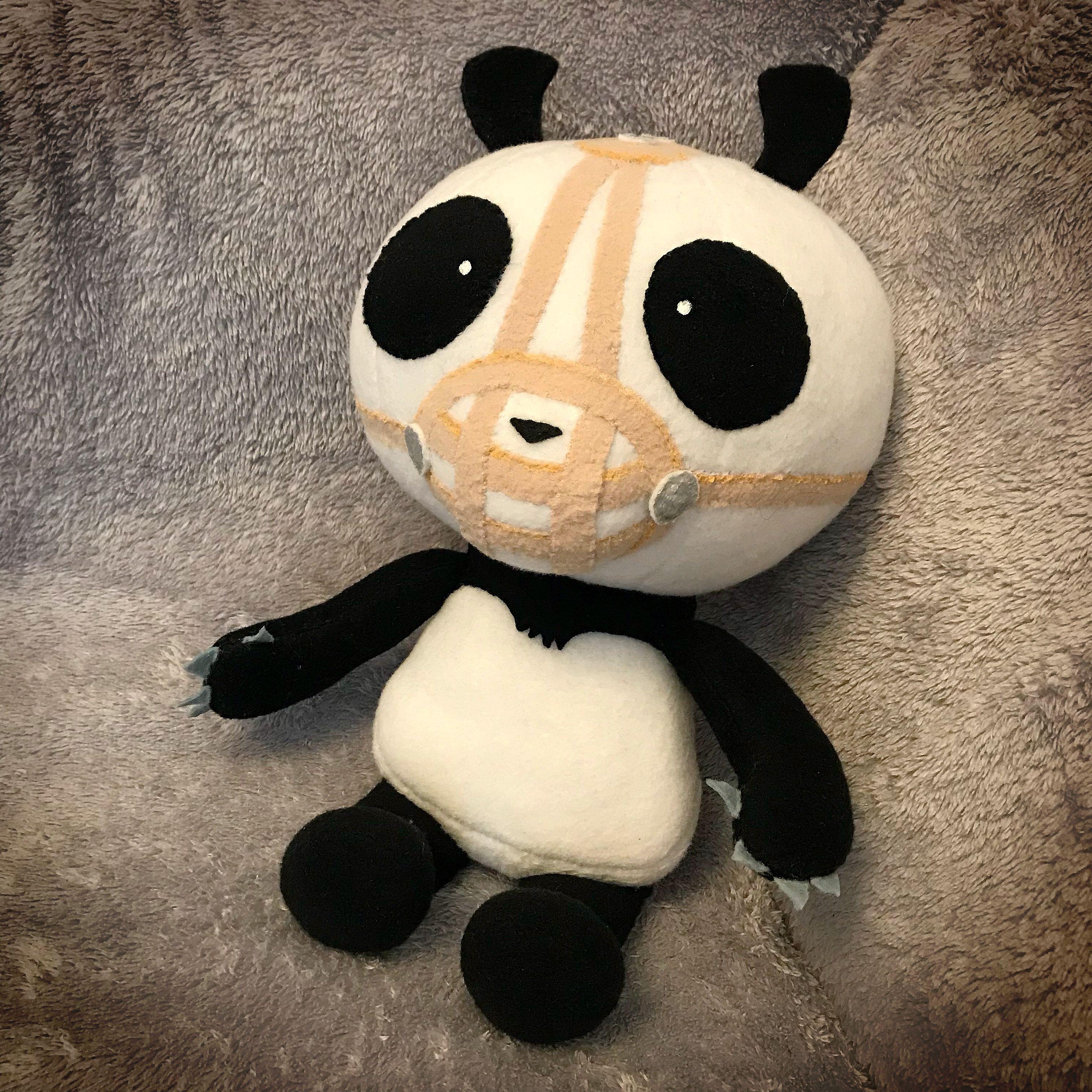 Panda 8 plush from Suckers cartoon Olaf the snowman