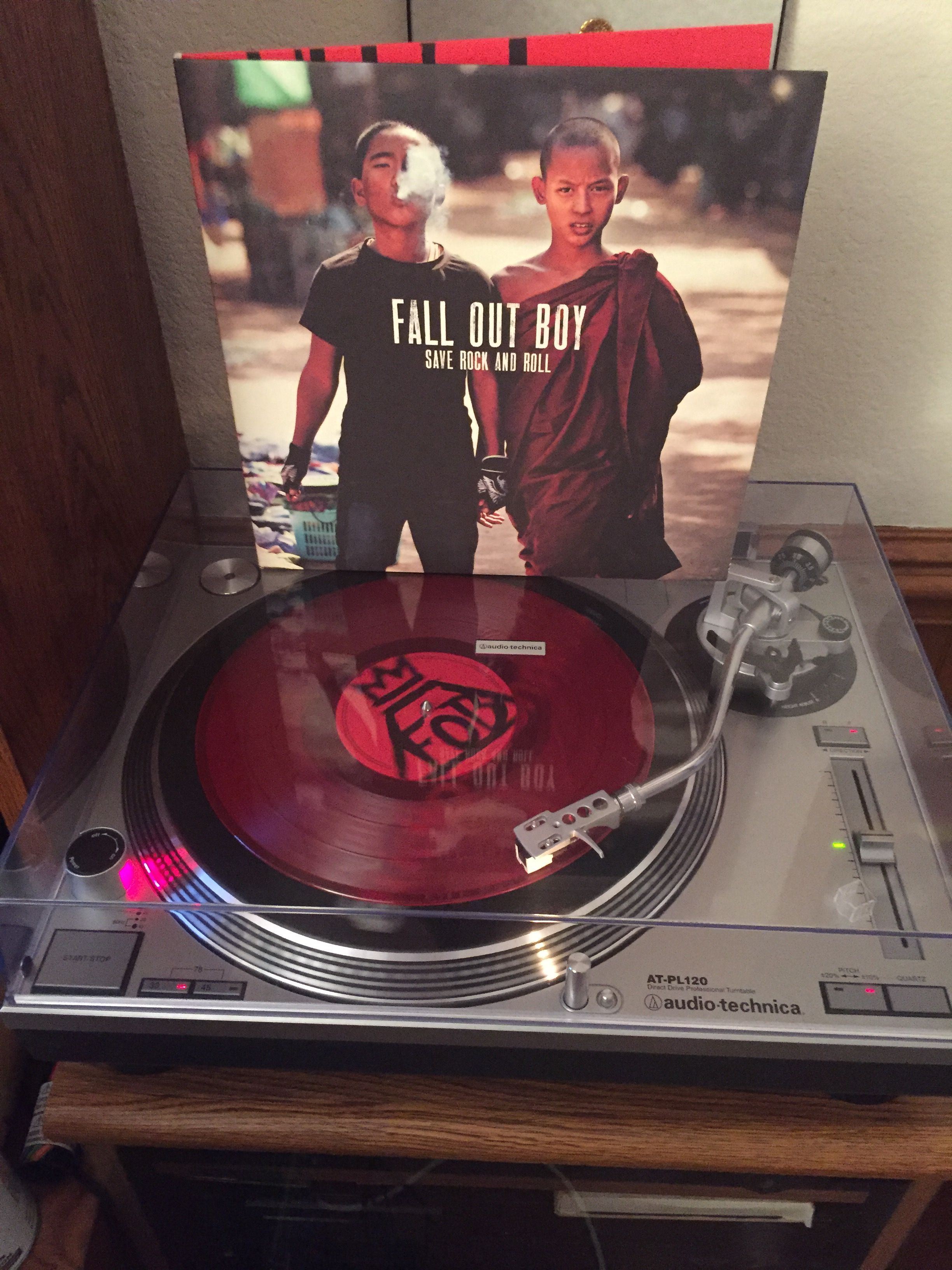 Fall Out Boy Save Rock And Roll 2013 10 Double Lp Red Translucent Vinyl Save Rock And Roll Vinyl Music Vinyl Record Player
