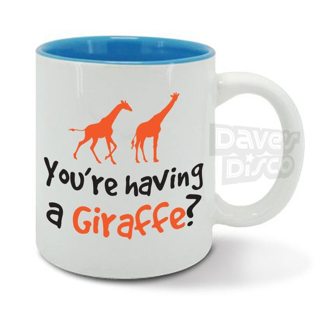 You're having a GIRAFFE cup or are you having a laugh animal mug gift idea  £8.95