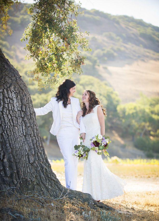 Amy and Melissa. Photo by Willa Kveta   willakveta.com. Read more on equallywed.com. #lgbt #lesbian #wedding
